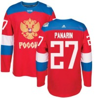 Team Russia #27 Artemi Panarin Red 2016 World Cup Stitched NHL Jersey