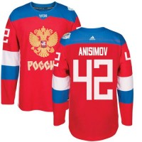 Team Russia #42 Artem Anisimov Red 2016 World Cup Stitched NHL Jersey