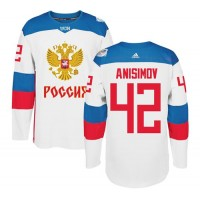 Team Russia #42 Artem Anisimov White 2016 World Cup Stitched NHL Jersey