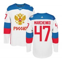 Team Russia #47 Alexey Marchenko White 2016 World Cup Stitched NHL Jersey