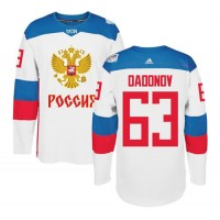 Team Russia #63 Evgenii Dadonov White 2016 World Cup Stitched NHL Jersey
