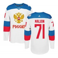Team Russia #71 Evgeni Malkin White 2016 World Cup Stitched NHL Jersey