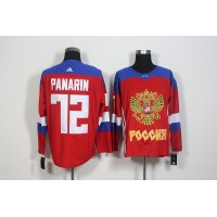 Team Russia #72 Artemi Panarin Red 2016 World Cup Stitched NHL Jersey