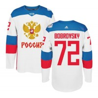 Team Russia #72 Sergei Bobrovsky White 2016 World Cup Stitched NHL Jersey