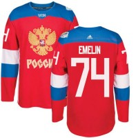 Team Russia #74 Alexei Emelin Red 2016 World Cup Stitched NHL Jersey