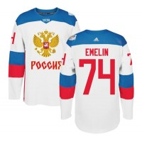 Team Russia #74 Alexei Emelin White 2016 World Cup Stitched NHL Jersey