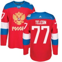 Team Russia #77 Ivan Telegin Red 2016 World Cup Stitched NHL Jersey