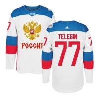 Team Russia #77 Ivan Telegin White 2016 World Cup Stitched NHL Jersey
