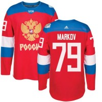 Team Russia #79 Andrei Markov Red 2016 World Cup Stitched NHL Jersey