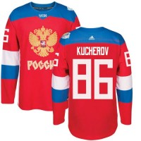 Team Russia #86 Nikita Kucherov Red 2016 World Cup Stitched NHL Jersey