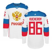 Team Russia #86 Nikita Kucherov White 2016 World Cup Stitched NHL Jersey