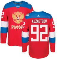 Team Russia #92 Evgeny Kuznetsov Red 2016 World Cup Stitched NHL Jersey