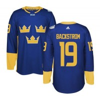 Team Sweden #19 Nicklas Backstrom Blue 2016 World Cup Stitched NHL Jersey