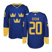 Team Sweden #20 Alexander Steen Blue 2016 World Cup Stitched NHL Jersey