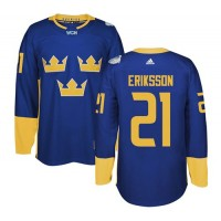Team Sweden #21 Loui Eriksson Blue 2016 World Cup Stitched NHL Jersey