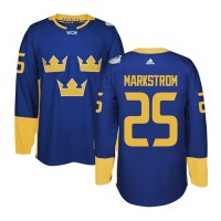 Team Sweden #25 Jacob Markstrom Blue 2016 World Cup Stitched NHL Jersey