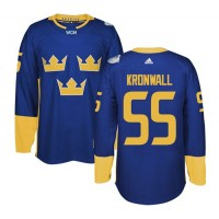 Team Sweden #55 Niklas Kronwall Blue 2016 World Cup Stitched NHL Jersey