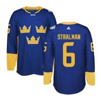 Team Sweden #6 Anton Stralman Blue 2016 World Cup Stitched NHL Jersey