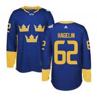 Team Sweden #62 Carl Hagelin Blue 2016 World Cup Stitched NHL Jersey