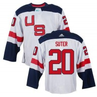 Team USA #20 Ryan Suter White 2016 World Cup Stitched NHL Jersey