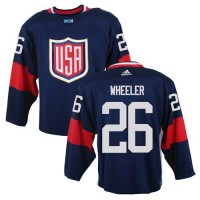 Team USA #26 Blake Wheeler Navy Blue 2016 World Cup Stitched NHL Jersey