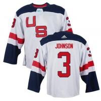 Team USA #3 Jack Johnson White 2016 World Cup Stitched NHL Jersey