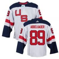 Team USA #89 Justin Abdelkader White 2016 World Cup Stitched NHL Jersey