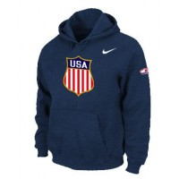 Team USA Hockey Winter Olympics KO Pullover Performance NHL Hoodie Dark Blue
