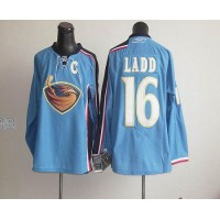 Thrashers #16 Ladd Stitched Blue NHL Jersey