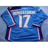Thrashers #17 Ilya Kovalchuk Stitched Blue NHL Jersey