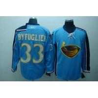 Thrashers #33 Dustin Byfuglien Stitched Blue NHL Jersey