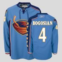 Thrashers #4 Bogosian Stitched Blue NHL Jersey