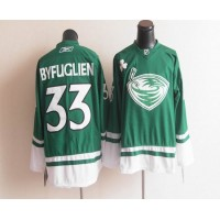 Thrashers St. Patty's Day #33 Dustin Byfuglien Green Stitched NHL Jersey