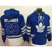 Toronto Maple Leafs #29 William Nylander Blue Name & Number Pullover NHL Hoodie