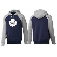Toronto Maple Leafs Pullover Hoodie Dark Blue & Grey