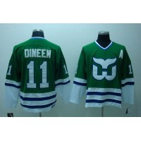 Whalers #11 Kevin Dineen Stitched CCM Throwback Green NHL Jersey