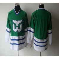 Whalers Blank CCM Throwback Green Stitched NHL Jersey