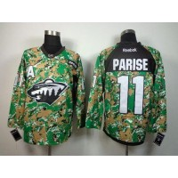 Wild #11 Zach Parise Camo Veterans Day Practice Stitched NHL Jersey