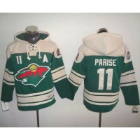 Wild #11 Zach Parise Green 2016 Stadium Series NHL Hoodie