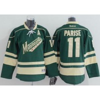 Wild #11 Zach Parise Green Stitched Youth NHL Jersey