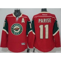Wild #11 Zach Parise Red Stitched NHL Jersey