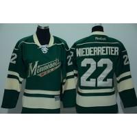 Wild #22 Nino Niederreiter Green Stitched Youth NHL Jersey