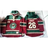 Wild #26 Thomas Vanek Red Sawyer Hooded Sweatshirt Stitched NHL Jersey
