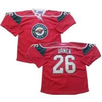 Wild #26 Thomas Vanek Red Stitched NHL Jersey