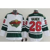 Wild #26 Thomas Vanek White Stitched NHL Jersey