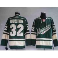 Wild #32 Niklas Backstrom Stitched Green NHL Jersey