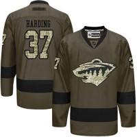 Wild #37 Josh Harding Green Salute to Service Stitched NHL Jersey