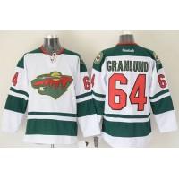 Wild #64 Mikael Granlund White Stitched NHL Jersey