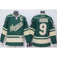 Wild #9 Mikko Koivu Stitched Green NHL Jersey