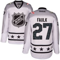 Women's Carolina Hurricanes #27 Justin Faulk White 2017 All-Star Metropolitan Division Stitched NHL Jersey